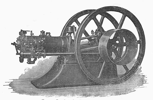 Horizontaler Gasmotor von Otto