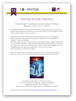 Physik in Hollywood