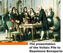 The presentation of the Voltaic Pile to Napoleone Bonaparte