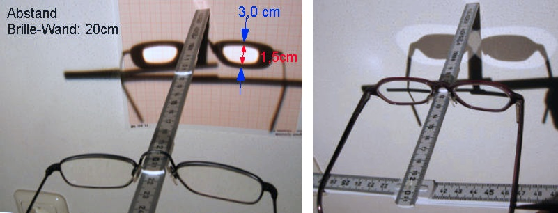 Dioptrie einer Brille bestimmen