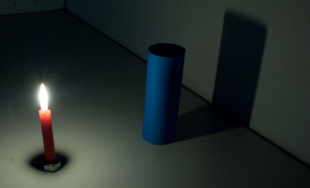 Schatten bei einer Lichtquelle