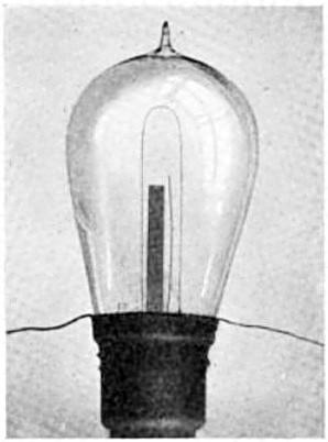 Edison Gluehlampe mit Platte