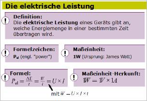 Elektrische Arbeit Und Leistung Leifi Physik