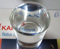 Heimversuche Brechung Wasserglas