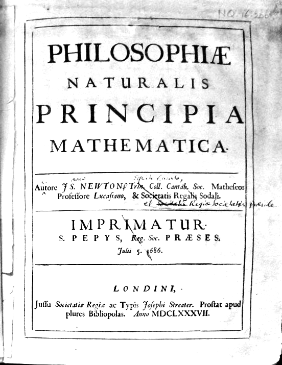 Newtons Principiae Mathematica