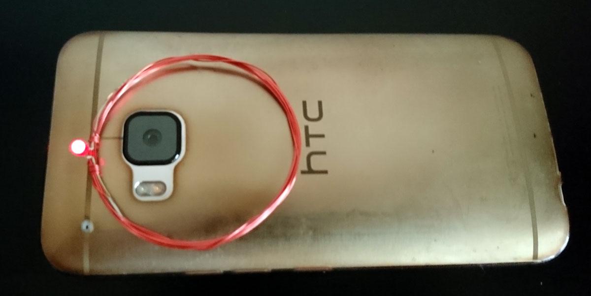 Nachweis des NFC-Feldes mit einfacher Antenne und LED