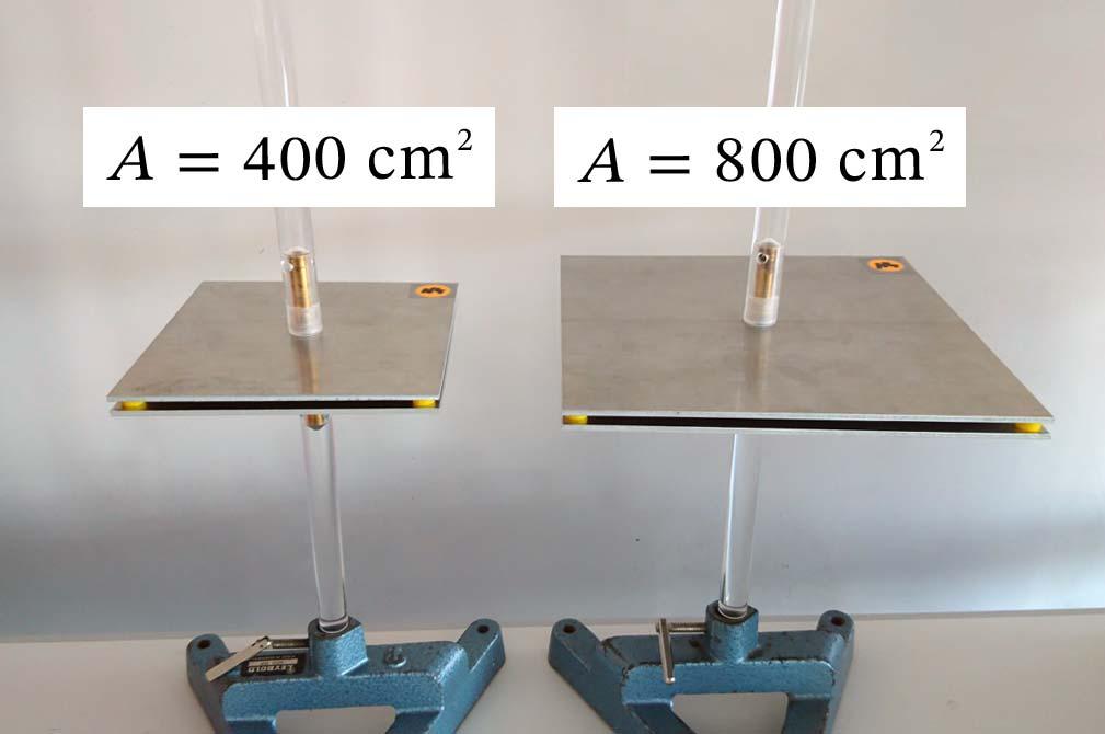 Einfluss der Plattengröße auf die Kapazität eines Plattenkondensators