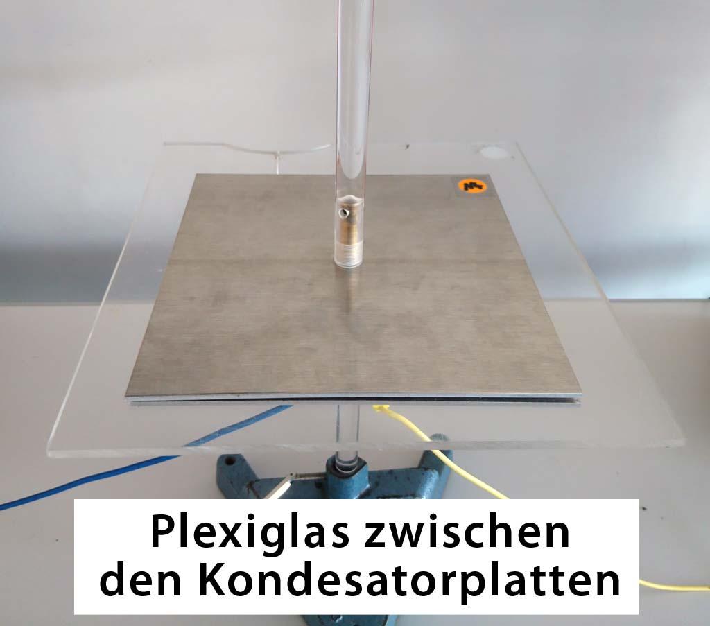 Plexiglas im Plattenkondensator