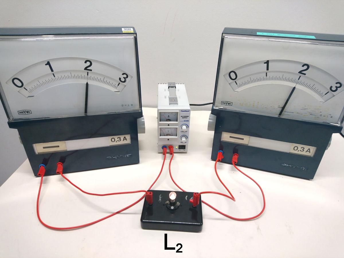 Versuchsaufbau mit Messgeräten