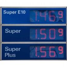 LED Anzeige von Benzinpreisen