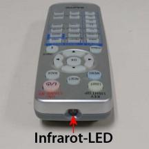 Infrarot-LED an einer Fernbedienung