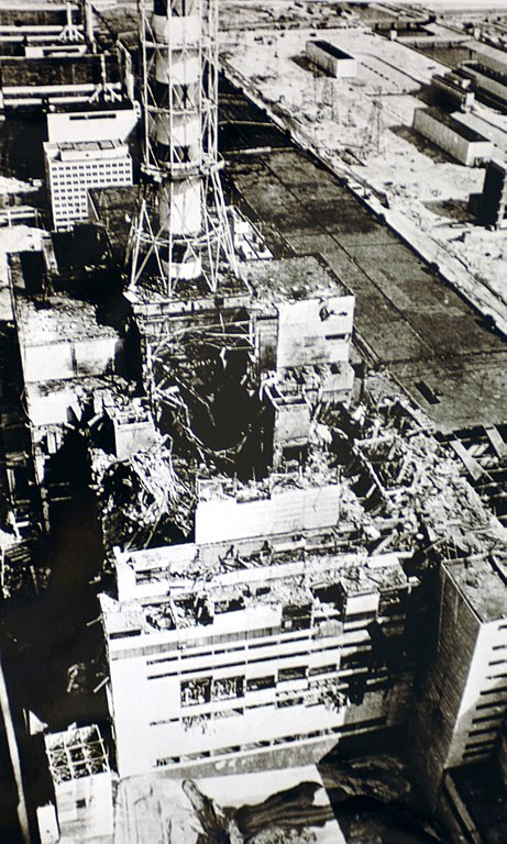 Tschernobyl Luftaufnahme Reaktorgebaeude