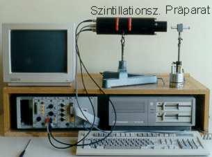 Versuchsaufbau Gammaspektrum mit Szintillationszähler